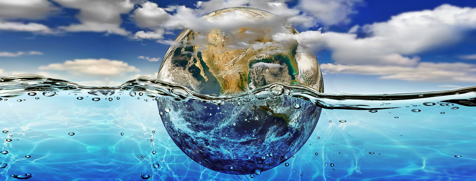 Board Veritas - Organizations Succeed When Leaders Thrive - image of earth floating in water