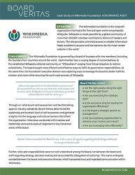 Wikimedia Case Study by Board Veritas